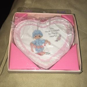 Vintage Precious Moments heart shaped plaque NWT